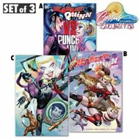 HARLEY QUINN #75 NM+ SIGNED J Scott Campbell  VARIANT SET of 3 PUNCHLINE JOKER