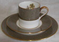 Wedgwood England Trio Demitasse Cup & Saucer & Dessert Plate - Classic Elaine