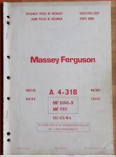 Massey Ferguson Motor A 4 - 318 Ersatzteilliste