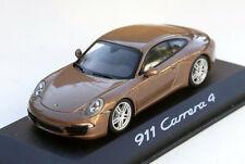 Minichamps Porsche 911 Carrera 4 Coupé Typ 991, Bj. 2011-2015, 1:43, cognac-met