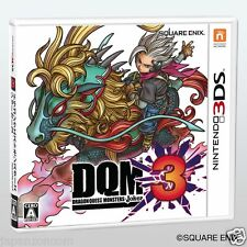 Used Dragon quest Monsters Joker 3 DOM NINTENDO 3DS JAPANESE  IMPORT