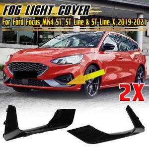 For Ford Focus MK4 ST, ST Line / X 2019-2021 Glossy Black Fog Light Trim Cover