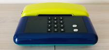 Telefono Sip Sirio color tasti 3 colori verde giallo blu anni 90 Design Giugiaro