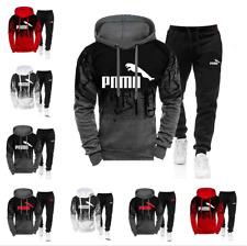Neu Puma Herren Trainingsanzug Sweatshirt Trainings  Hose Sportanzug Zweiteilig