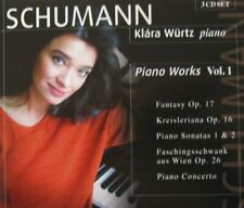 KLARA WURTZ, PIANO - SCHUMANN: PIANO WORKS VOL.1  - 3 CD