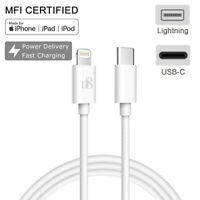 MFI Lightning Cable to USB-C PD Fast Charging Cord for iPhone XS/Max/XR/X/8 iPad