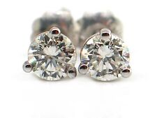 0.43 CT Round Diamond Martini Style Stud Earrings VS2/H 14K White Gold