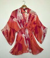 JAEGER 100% Silk Retro Tunic Blouse Top Womens UK S