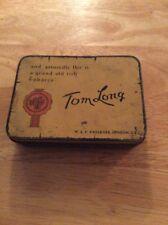 Tom Long tobacco tin 2 ounce paper lid insert Faulkner Imperial London vintage N