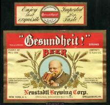 Neustadtl Brewing Corp. New York, Ny & Stroudsburg, Pa Gesundheit! Irtp