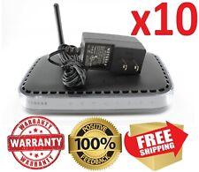 Lot x10 Netgear N150 WNR1000 v2 Wireless-N Router w/ 12v Adapter * WARRANTY *