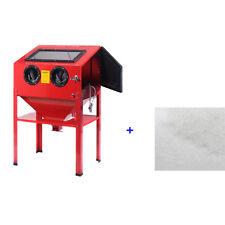 Sandstrahl Gerät Sandstrahlkabine Sandstrahler 220L Option Glasperlen mit LED