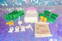 Vintage My Little Pony SHOW STABLE Playset Parts Door Bed Fence Cup G1 MLP BH077
