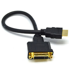 HDMI to DVI-I 24+5 M/F Male-Female Video Adapter Cord Cable For PC HDTV LCD DVD