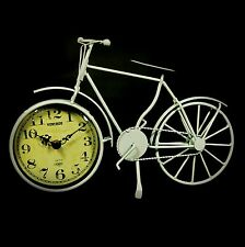 50 CM Retro Vintage Ivory Cream Metal Bicycle Quartz Analogue Clock Antique Gift