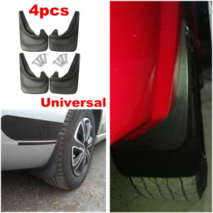 4pcs Black ABS Molded Splash Guards Mud Flaps Kit Front & Rear For Truck Vans