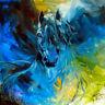 "Decor  Art QUALITY CANVAS PRINT, equus blue ghost marcia baldwin,12""x12"""