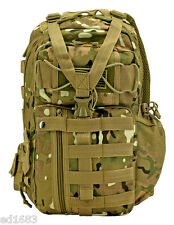 "17"" Multicam Tactical Sling Pack Water Resistant MOLLE Airsoft Hunting camo"