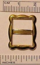 1:2, 1:3, 1:4 Play Scale FANCY RECTANGULAR DOLL BUCKLE for Belt, etc GOLD PLATED