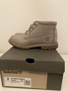 TIMBERLAND NELLIE CHUKKA DOUBLE STEPLE GREY BOOTS SIZE UK 6