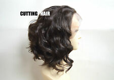 Deep Invisible Chestnut Gold Brown Short Curly Lace Front Wig GLUELESS LF015-6