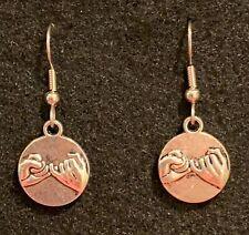 PINKY PROMISE Earrings Stainless Hook New Finger Lock Word of Honor