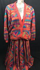 Steilmann Of West Germany Vintage Two Piece Colorful Skirt Jacket Set