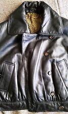 Loewe Lujo Aviador Negro Cuero Chaqueta De Motorista/40, 12, 8 UK US, en muy buena condición