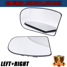 LEFT&RIGHT Heated Door Mirror Glass  w/Plate for Benz E/C-Class W211 W203 01-07