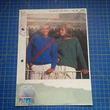 Patons Womens Sweaters With Dagonal Lace Panel Knitting Pattern 7878