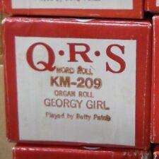 Qrs Kimball Electramatic Player Organ Roll Georgy Girl Nos Rare Km -209