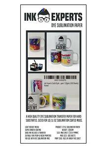 Style Mug Size (99x210mm) 120g Sublimation Heat Transfer Paper 1000 Sheets
