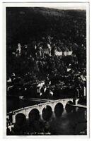 Ansichtskarte Heidelberg - Blick vom Philosophenweg - Brücke - schwarz/weiß