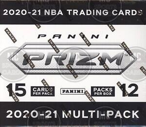 2020-21 PANINI PRIZM BASKETBALL FACTORY SEALED 12 PACK MULTI PACK CELLO BOX NBA