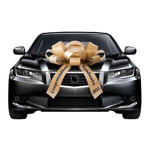 Large Car Bow, Congratulations 2021 Graduate, Magnetic Back, No Scratch