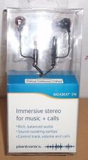 Plantronics Backbeat 216 Immersive Stereo for Music+ Calls  Ear-buds Black (New)