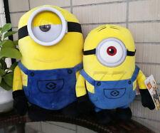 "2X Despicable Me 3 Mel 12"" and 8"" Minions Plush soft toys Cartoon Stuffed Animal"