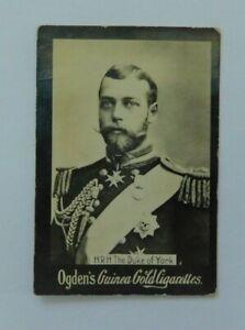 Ogden's Guinea Gold cigarette card c 1900 - H.R H. Duke of York - Royalty photo