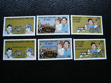 CONGO brazzaville - timbre yvert et tellier n° 637 a 639 679 a 681 n** (A9)stamp