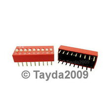 Dip Switch 9 Positions Silver Plated Contacts