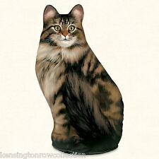 Door Stopper - Tabby Cat Door Stop - Long Haired Tabby Cat Doorstop