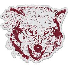 "Wolf Styling Red Grey car bumper sticker decal 4"" x 4"""
