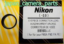 Nikon FM3A/FM2/FA/FE Eyepiece Diopter lens -2 Genuine Nikon Made in Japan