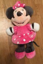RARE  Pink Disney Minnie Mouse Soft Plush Toy Posh Paws Grey