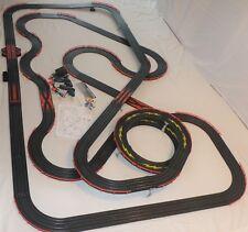 HUGE 50' AFX Tomy Turbo Lighted Giant Raceway Race Track Complete Slot Car Set