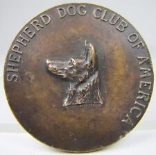 Antique SHEPHERD DOG CLUB OF AMERICA Medallion Paperweight Exquisite RHTF