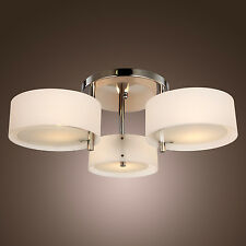 Crystal Chandelier Home Lighting Whtie Ceiling Lamp Dining Room Lights Office WY
