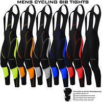 Mens Cycling Bib Tights Long Compression Pants Padded MTB Road Bike Lycra NEW