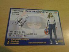 original Tatiana Calderon- Formel1