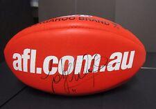 Essendon : Jobe Watson (Captain) signed Red Sherrin Football -AFL.COM.AU sponsor